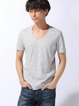 半袖見返し付きVネックTシャツ