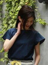 (W)フレアスリーブTシャツ