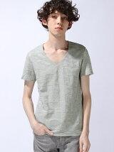見返し仕様Vネック半袖Tシャツ