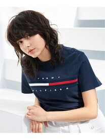 TOMMY HILFIGER (M)TOMMY HILFIGER ロゴTシャツ/TINO TEE トミーヒルフィガー カットソー Tシャツ ネイビー ホワイト【送料無料】