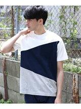 【汗染み防止・防菌防臭】カラーブロッキングTシャツ