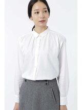 ドット柄部分使いヒヨクシャツ[HUMAN WOMAN Japan couture]