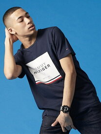 【SALE/30%OFF】TOMMY HILFIGER TOMMY HILFIGER(トミーヒルフィガー) ロゴパッチTシャツ ロゴカットソー Tシャツ メンズ トミーヒルフィガー カットソー【RBA_S】【RBA_E】【送料無料】