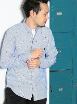 ストライプカットドビーボタンダウンシャツ