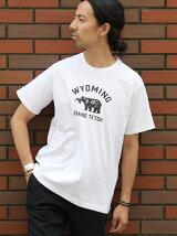 クマカレッジプリントTシャツ