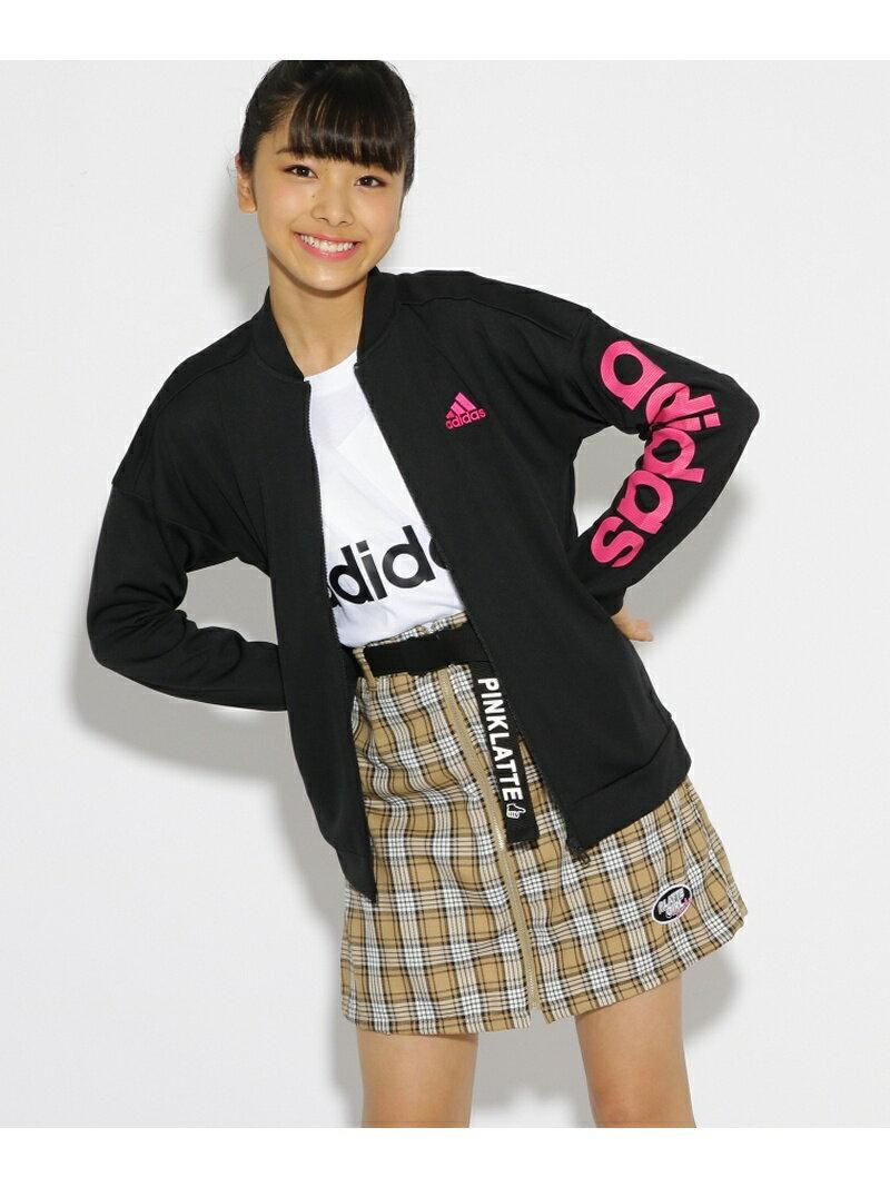 PINK-latte adidas 袖ロゴジャージジャケット ピンク ラテ コート/ジャケット【送料無料】