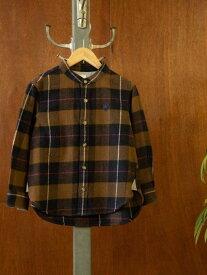 coen 【coenキッズ/ジュニア】インディアンコットンネルバンドカラーシャツ(ネルシャツ・チェックシャツ) コーエン シャツ/ブラウス 長袖シャツ ネイビー