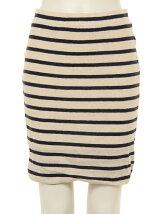 Gauze Stripe Mini Skirt