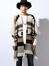 W Jacquard Knit Cape