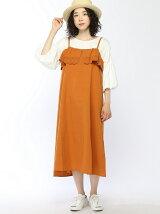 綿麻刺繍キャミワンピース