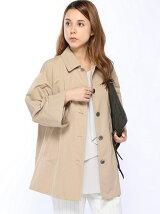 8分袖Aラインコート