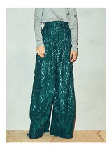 Belted Lace Wide Pants