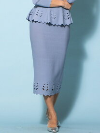 【SALE/73%OFF】Viaggio Blu ニットアップアイレットスカート ビアッジョブルー スカート ロングスカート ブルー ホワイト ネイビー【送料無料】