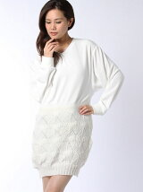 Lace Knit V-neck O.P
