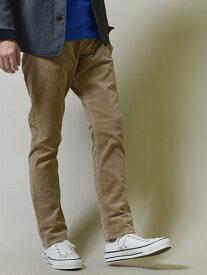 SHIPS SC:オイカワデニム縫製カラーコーデュロイ5ポケットパンツ シップス パンツ/ジーンズ フルレングス ベージュ ブラウン グレー グリーン ネイビー【送料無料】