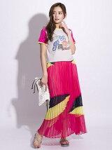 カラープリーツスカート[DRESS/ドレス]