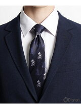 ストライプ刺繍ネクタイ(ミッキーマウス)