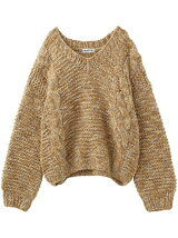 CABLE KNIT TOP