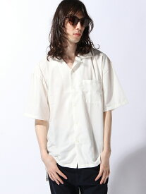 ZIP FIVE (M)ZIP FIVE オープンカラービッグシャツ ジップファイブ シャツ/ブラウス