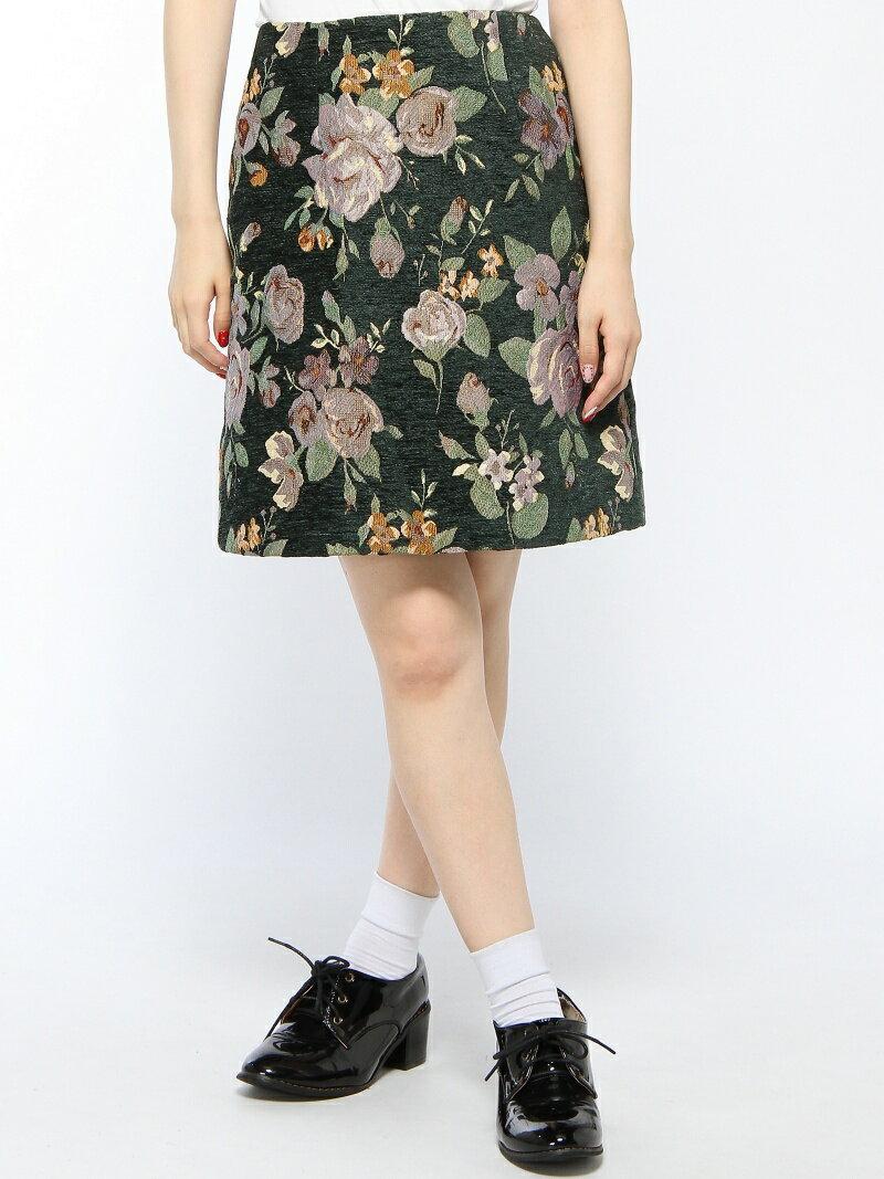 【SALE/50%OFF】OLIVE des OLIVE 花柄ジャガード台形スカート オリーブ・デ・オリーブ スカート【RBA_S】【RBA_E】