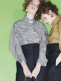 【SALE/57%OFF】beautiful people c/s houndstoothshirt ビューティフル ピープル シャツ/ブラウス 半袖シャツ ブラック イエロー【送料無料】