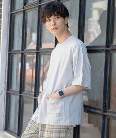 【SALE/60%OFF】coen USAコットンガーデンポケットTシャツ コーエン カットソー Tシャツ グレー ホワイト ブラック カーキ
