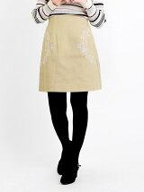 刺繍入り台形ミニスカート