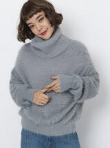 SHAGGY HIGHNECK KNIT