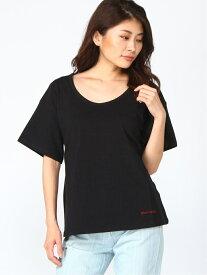 【SALE/88%OFF】DaTuRa ・バックリボンT パル グループ アウトレット カットソー Tシャツ ブラック ホワイト