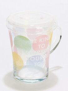 ドット柄フィルター付き耐熱ガラスマグカップ
