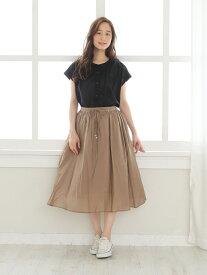 【SALE/49%OFF】Afternoon Tea レーヨンナイロンギャザースカート アフタヌーンティー・リビング スカート スカートその他 ベージュ グリーン ネイビー