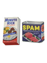 LEADWORKS/ヴィンテージステッカー 2種セット MINUTE RICE & SPAM