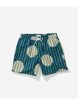 Timothy Striped Polka Dot Swim Short