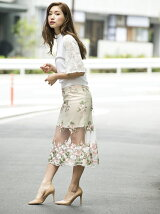 フラワーレーススカート[DRESS/ドレス]