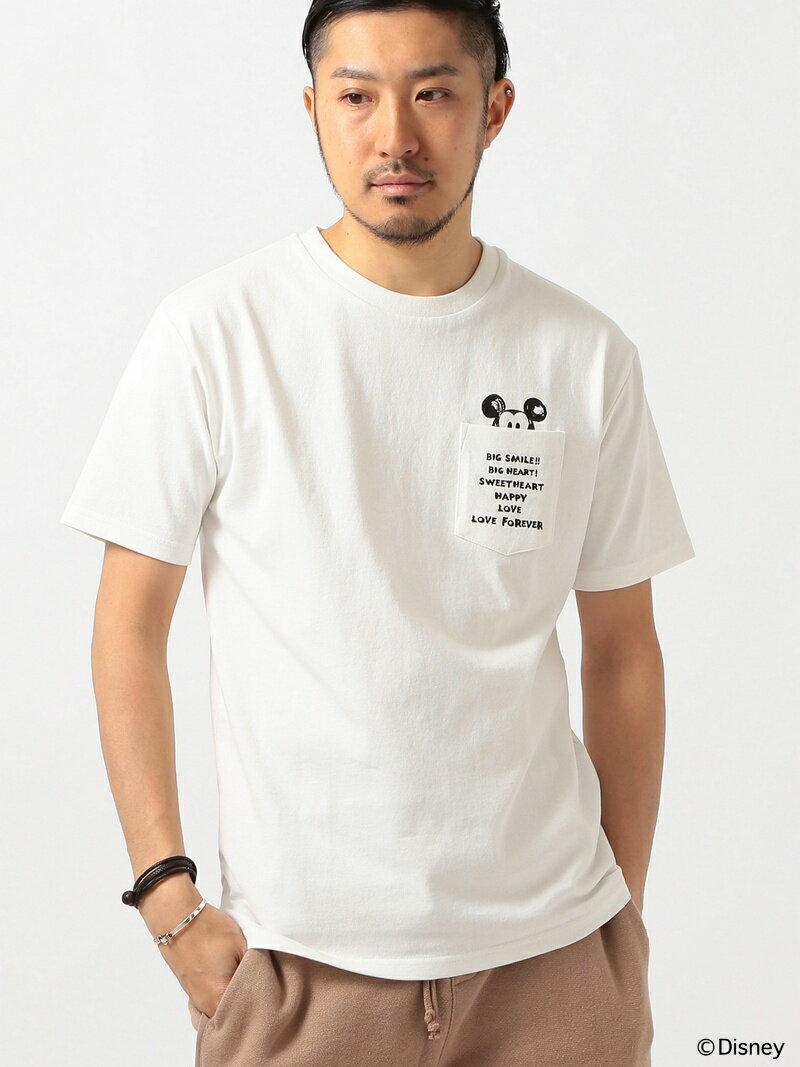 B:MING by BEAMS 【予約】Disney ビーミング by ビームス / ミッキーマウス ヘビーウェイト ポケットTシャツ BEAMS ビームス ビーミング ライフストア バイ ビー【先行予約】*【送料無料】