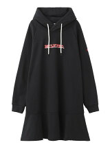 LOGO EMBROIDERY HOODED DRESS