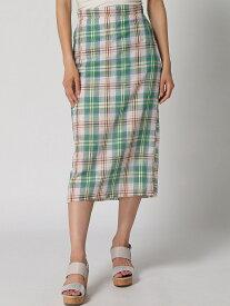 【SALE/50%OFF】anap mimpi anap mimpi/チェックタイトスカート アナップ スカート タイトスカート グリーン レッド