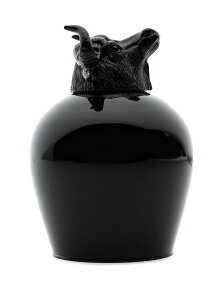 ANIMAL WINE GLASS-COW
