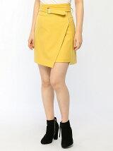 巻き風ベルト付きスカート