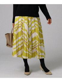 UNTITLED [L]スタイリッシュアートプリーツスカート アンタイトル スカート ロングスカート イエロー【送料無料】