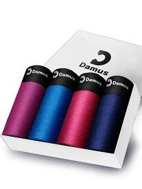 【SALE/32%OFF】Damus Damus/(M)【Damus】快動ボクサーパンツ メンズ(4枚セット) オブライフ インナー/ナイトウェア ボクサーパンツ/トランクス ブラック