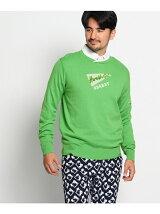 パイルロゴ刺繍入りセーター