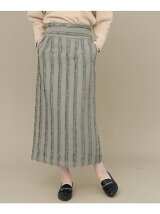 KBF+ ハイウエストフリンジタイトスカート