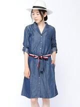(W)デニムシャツドレス