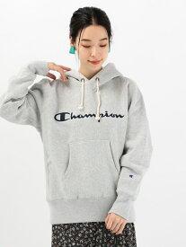 Khaju Champion:ロゴパーカー シップス カットソー パーカー グレー レッド グリーン【送料無料】