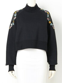 FURFUR 花刺繍スウェット ファーファー カットソー スウェット ブラック グレー【送料無料】