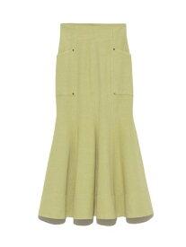 【SALE/45%OFF】Lily Brown オックスマーメイドスカート リリーブラウン スカート スカートその他 グリーン ホワイト ピンク【送料無料】