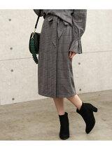 【WEB限定】グレンチェックタイトスカート