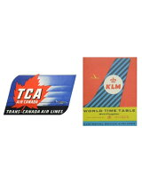 LEADWORKS/ヴィンテージステッカー 2種セット TRANCE-CANADA AIRLINE & KLM ROYAL DUTCH AIRLINE