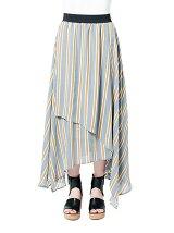 ストライプドレープスカート